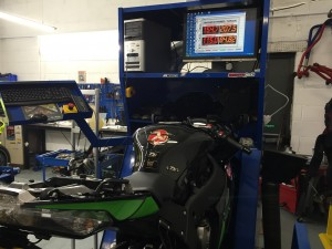 Fuch Motorbike Dyno at Dragon Motorbikes