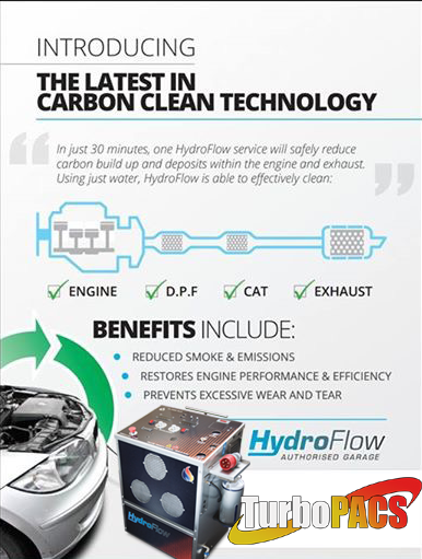 Hydroflow Carbon Cleaning Cleaning Dpf filters on car with having to remove them