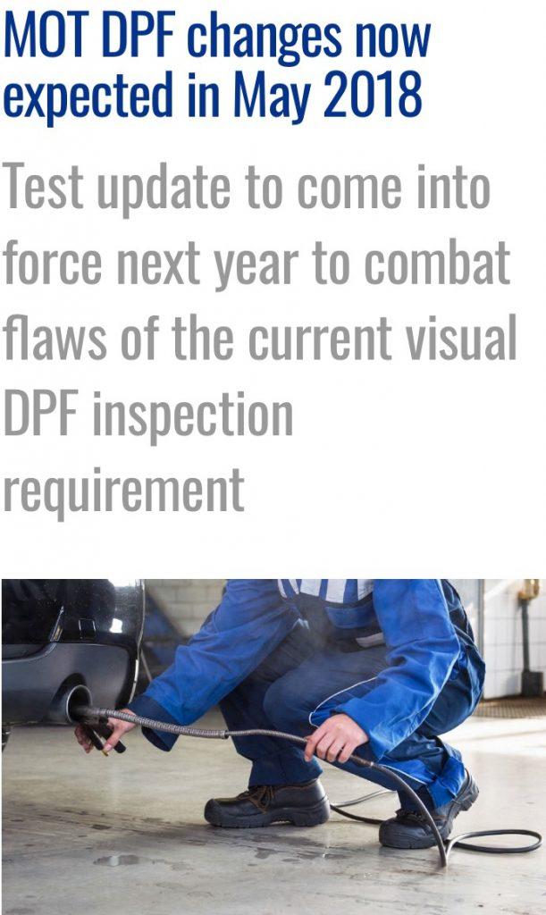 DPF Mot Testing 2018